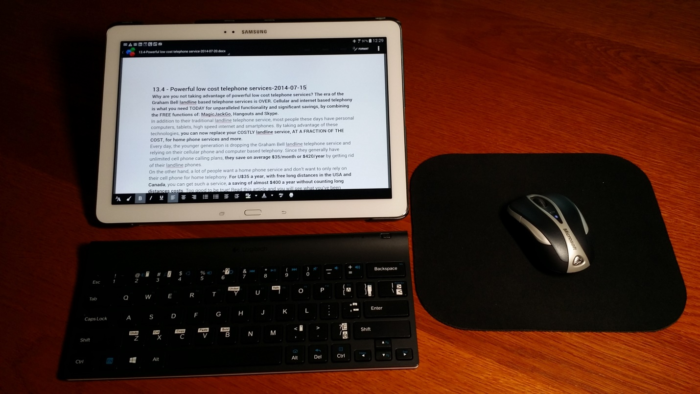 12 7 using the samsung galaxy note pro 12 2 with keyboard mouse as a laptop replacement 2014. Black Bedroom Furniture Sets. Home Design Ideas